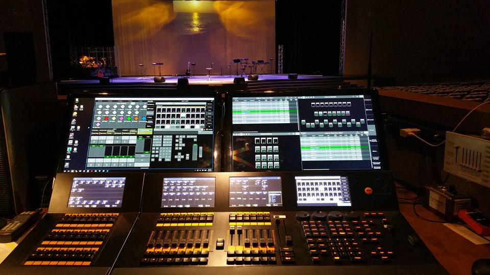 dot 2 lighting console setup Victory Church
